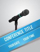 иллюстрация конференции — Cтоковый вектор