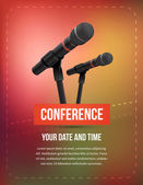 Conference illustration — Stock Vector