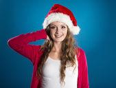 красивая рождественская женщина — Стоковое фото
