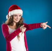 Schöne weihnachts-frau — Stockfoto