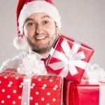 Handsome christmas man — Stock Photo