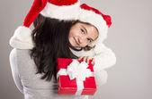 Vacker jul familj — Stockfoto