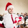 Christmas conference — Stock Photo