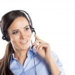 Call centrum žena — Stock fotografie