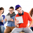 Young people with tablets — Stock Photo #34534029