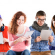 Young people with tablets — Stock Photo #34534063