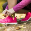 Autumn runner — Stock Photo