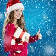 Beautiful christmas woman — Stock Photo