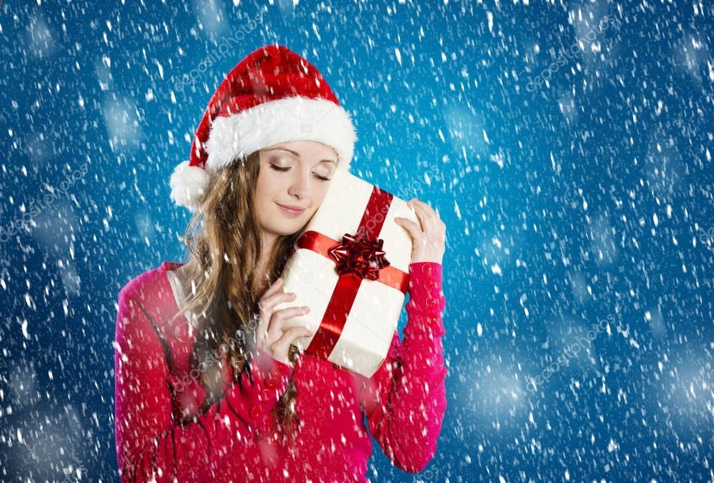 Beautiful Christmas Woman Stock Photo Halfpoint 34907519