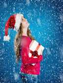 美丽的圣诞女人 — 图库照片