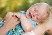 Laughing son — Stock Photo