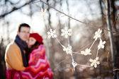 Par de invierno — Foto de Stock