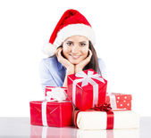 Mooie kerst vrouw — Stockfoto