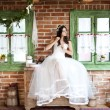 Countryside bride — Stock Photo