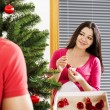 Christmas couple — Stock Photo #37197319