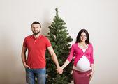 Casal de natal — Foto Stock