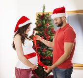 Christmas couple — Stock Photo