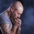 Man with tattoo — Stock Photo