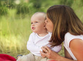 Moeder en haar zoontje — Stockfoto