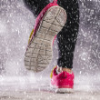 Woman running in winter — Stock Photo #39303029