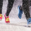 Couple running in winter — Stock Photo #39305859