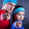 Fitness couple — Stock Photo #39664485