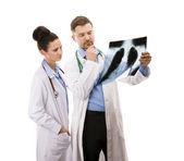 A medical team of doctors — ストック写真
