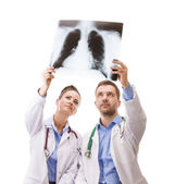 A medical team of doctors — Foto Stock