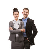Business woman and business man — Stock Photo