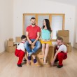 Movers in new house — Stock Photo #41590097