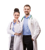 A medical team of doctors — Stock Photo