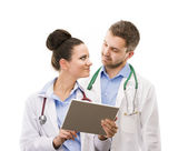 A medical team of doctors — 图库照片