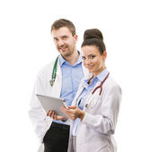 A medical team of doctors — Stockfoto