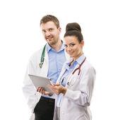 A medical team of doctors — Foto de Stock