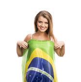 Female sports fan — Stock Photo