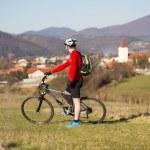 Mountain biker — Stock Photo