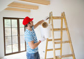 Man schilderen van de muren — Stockfoto