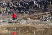 Mountainbiker — Stockfoto