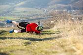 Cykel olycka — Stockfoto