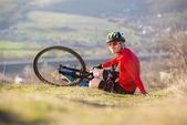 Bicycle accident — Stock Photo