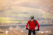 Mountainbiker — Stockfoto