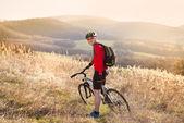 Mountainbike-åkaren — Stockfoto
