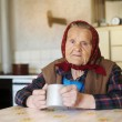 Old woman in the kitchen — Stock Photo #44055465