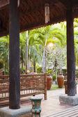 Zelené tropické zahrady — Stock fotografie