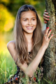 Outdoor portrait of teenage girl — Photo