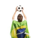 Male soccer fan — Stockfoto