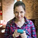 Woman in café — Stock Photo