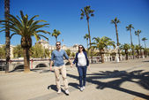 Tourist couple in the city — Stock Photo