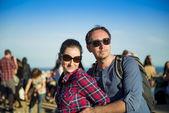 Tourist couple — Stock fotografie