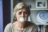 Victim of domestic violence — Stock Photo